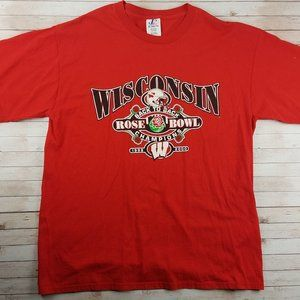VTG 90s Wisconsin Badgers Rose Bowl Champs Tee